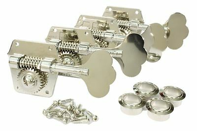 GOTOH GB640 Super Light Weight Bass Guitar Tuning Machine Set NICKEL
