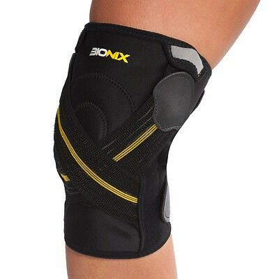 Bionix Hinged Knee Brace Patella Support Arthritis Stabiliser Adjustable Straps