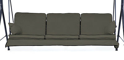 Replacement Grey 3 Seater Swing Seat Hammock Cushions Set Pads Garden Furniture