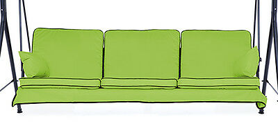 Replacement Lime 3 Seater Swing Seat Hammock Cushions Set Pads Garden Furniture