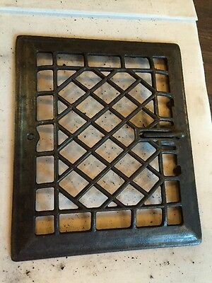 Antique Heating Grate Wiry Diamonds Tc 57