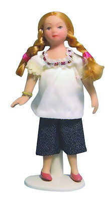 Dolls House Doll : Porcelain Little Girl Doll    in 12th scale