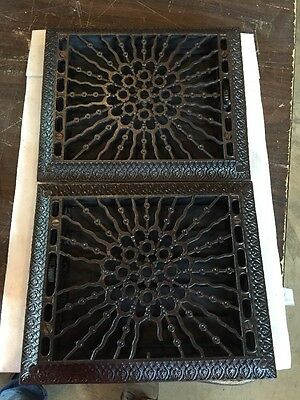 1 Available 1 sold Sunburst Cast Iron Heating Grates Tc 78
