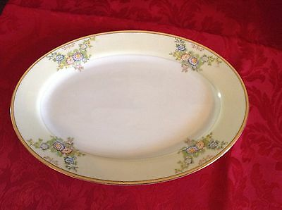 """Vintage Meito China MEI357 LRG 12"""" Oval Serving platter EXC Condition"""