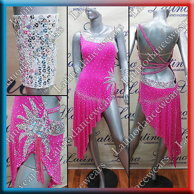 Latin Rhythm Salsa Ballroom Competition Dance Dress - Size S, M, L (Lt939)