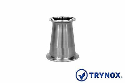 Tri Clamp Sanitary Stainless Steel 316L 2'' x 1 1/2'' Concentric Reducer