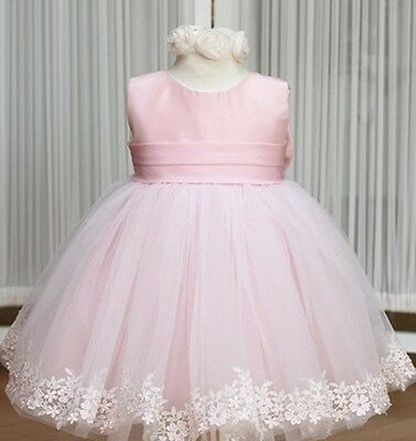 Flower Princess Lace Dress Girl Toddler Baby Wedding Party Pageant Tulle Dresses