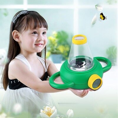 Two Way Bug Insect Observation Viewer Kids Toy Magnifier Magnifying Glass AB5
