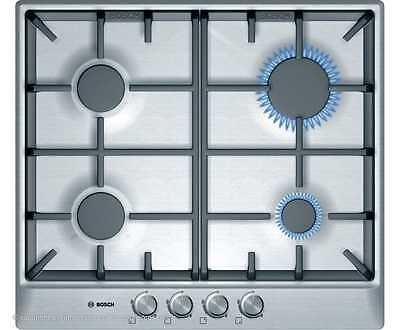 Bosch PCP615B90B Serie 4 Built In 58cm 4 Burners Gas Hob Brushed Steel New from