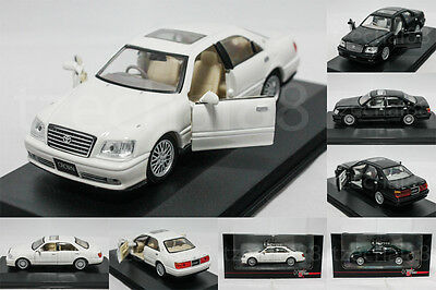 1:43 High Speed DIECAST Toyota Crown Car White / Black Model COLLECTION New