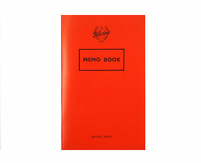 NEW RED SILVINE MEMO NOTE BOOK FEINT RULED PAPER NON PERFORATED 159x95mm