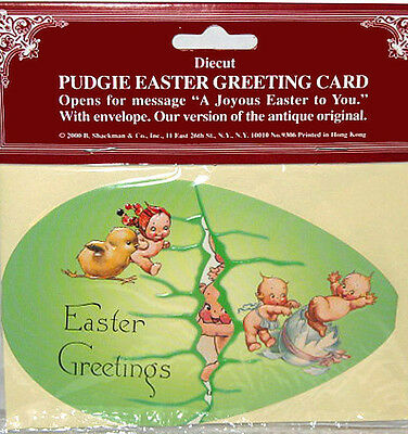 KEWPIE PUDGIE EASTER EGG CARD NIP/NOS Shackman We Ship Worldwide!