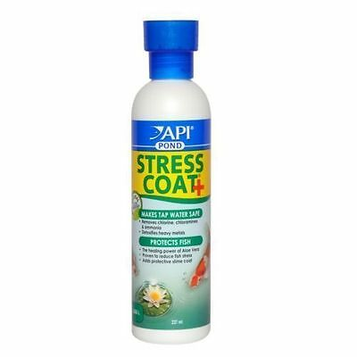 Api Pond Stress Coat 237ml Tap Safe Dechlorinator O.O.D 10/17