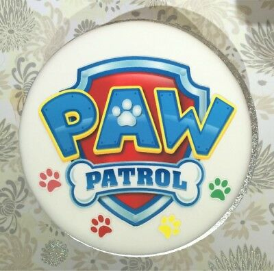 Precut Edible Paw Patrol Icing Toppers Mixed Sizes For Cakes Or Cupcakes