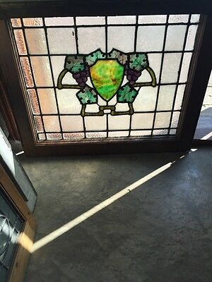 Sg 567 Antique Wine Cellar Grape Design Stainglass Window