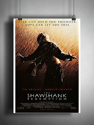 The Shawshank Redemption Classic Movie Poster High Quality Art Print A1, A2+