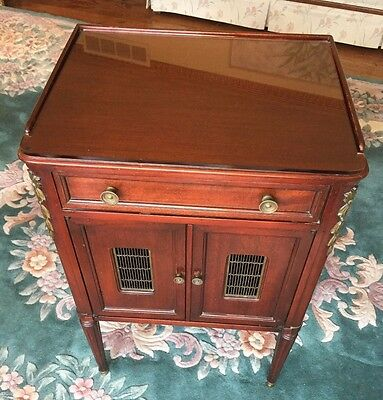 Vintage John Widdicomb French Empire Mahogany Night Stand Drawer & Cabinet 1940s