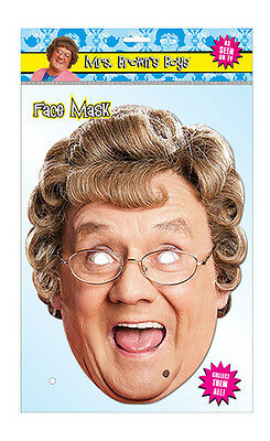 Agnes Brown Official Mrs Brown's Boys 2D Card Party Face Mask Fancy Dress Up
