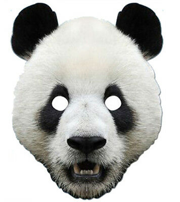 Panda Animal 2D Card Party Face Mask Fancy Dress Up Zoo Theme Cute