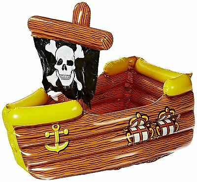 Inflatable Pirate Ship Cooler (holds apprx 72 12-Oz cans) 50989 Beistle NEW GRMS