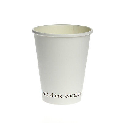 8oz Compostable & Biodegradable Hot Cups - Case of 1000