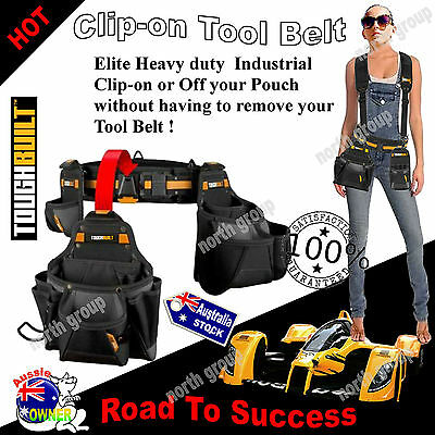 Heavy Duty Tool Belt Nail Bag Utility Pouch Hammer Loop Builders PERFECT GIFTS