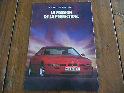 Brochure Prospekt Dépliant Prospectus Folder 1992 BMW 850 CSi M French