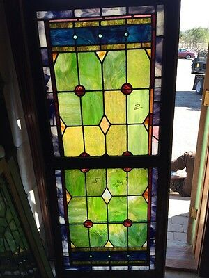 Sg 605 Antique Double Hung Landing Window Stained Glass