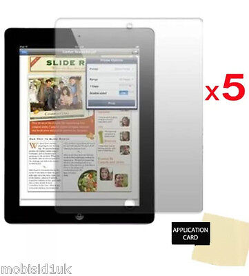 "5x Ultra Clear HD LCD Screen Protector Guard for new Apple iPad models 9.7"" inch"