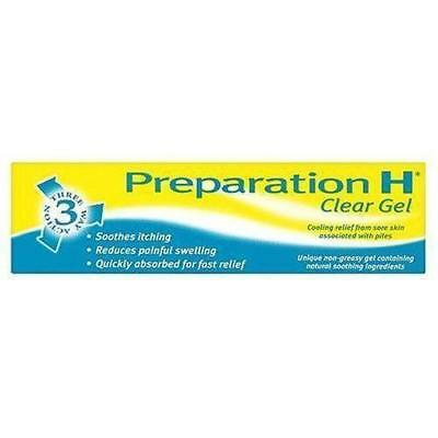 Preparation H 3 Way Action Clear Gel for Sore Skin 50g Soothing Relief Cooling
