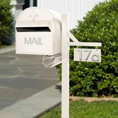 Milkcan Letterbox CREAM Aluminium Aussie Box and Steel Post Freestanding Mailbox