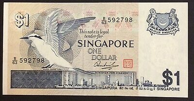 1976 $1 Singapore Banknote - Uncirculated - Pick 9 - B/63 592798