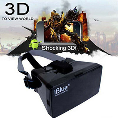 3D VR Glasses Helmet Headset Movies Virtual Reality For 3.5-5.7''SmartPhone OL