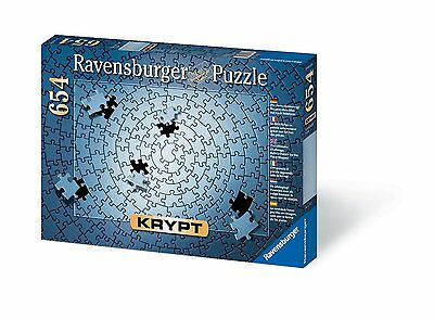 Krypt Silver 654 Piece Blank Puzzle Challenge by Ravensburger (15964) NEW