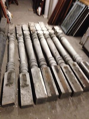 Antique Porch Posts Heavy Six Matching Two Halves