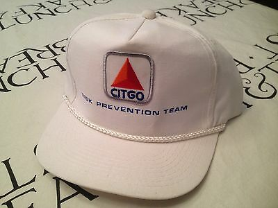 Unworn Vintage CITGO RISK PREVENTION TEAM Cap Oil Company Gas Hat White Trucker
