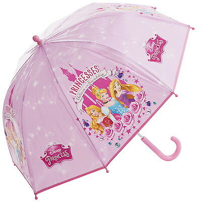 NEW OFFICIAL Disney Princess Girls Kids Classic Bubble / Dome Umbrella / Brolly
