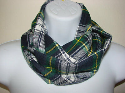 navy green baby plaid infinity scarf toddler plaid scarf Christmas gift boy