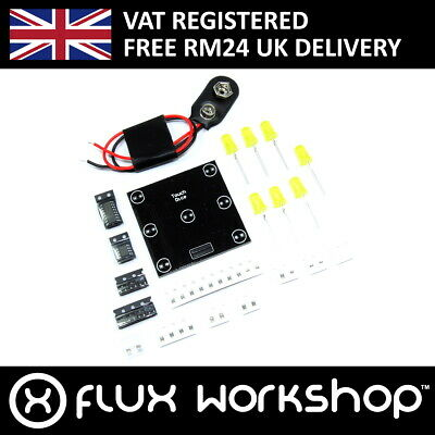 6 Sided Touch Dice DIY SMD Kit 9V Unsoldered Six Electronic Flux Workshop