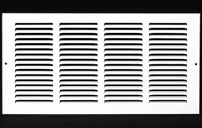 "16w"" x 12h"" RETURN GRILLE - HVAC Dcut Cover - Easy Air FLow - Flat Stamped Face"