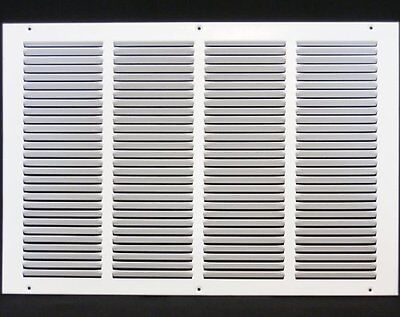 "20w"" x 12h"" RETURN GRILLE - HVAC Dcut Cover - Easy Air FLow - Flat Stamped Face"
