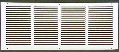 "24w"" x 8h"" RETURN GRILLE - HVAC Dcut Cover - Easy Air FLow - Flat Stamped Face"