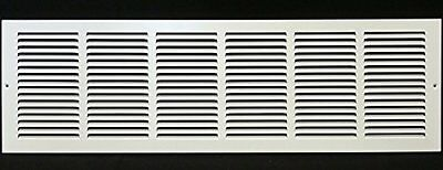 """36w"""" x 6h"""" RETURN GRILLE - HVAC Dcut Cover - Easy Air FLow - Flat Stamped Face"""