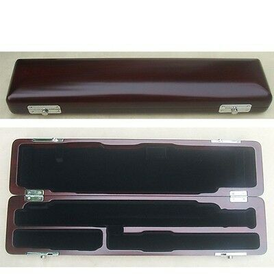 C foot(16 hole) OR B foot(17 hole) flute case dark red wooden new