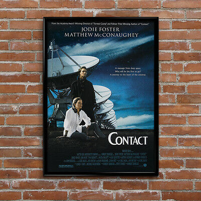 Contact Aliens UFO Space Sci-Fi Movie Poster High Quality Print Art A1, A2+