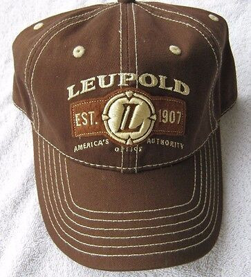 NEW Leupold Americas Optic Authority Brown Adjustable Baseball Cap Hat One Size