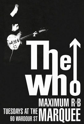 The Who Marquee Club Maximum R&B Concert Music Poster Print New 24x36 HS4044