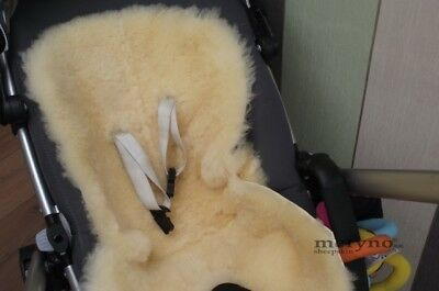 sheepskin pushchair liner Medical  Pram Car Seat  Natural