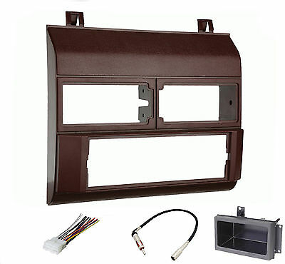 Dash Install Kit Car Stereo Radio Mounting Panel Bezel Trim Mount Red Package