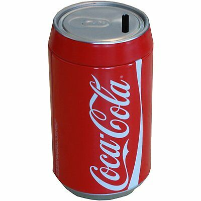 Coca-Cola Savings Tin Small Piggy Bank Coke Can Money Saver Tin,new